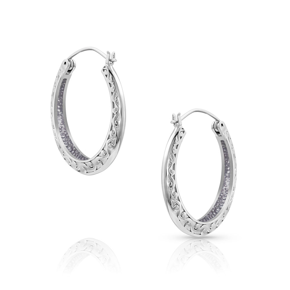 River Boat Hoop Earrings