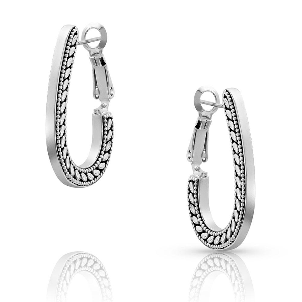 Side Rope Hook Hoop Earrings