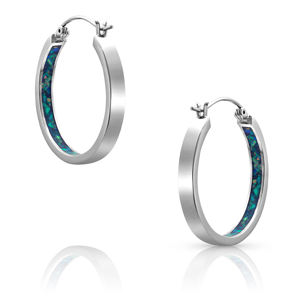 Hidden Depths Opal Hoop Earrings