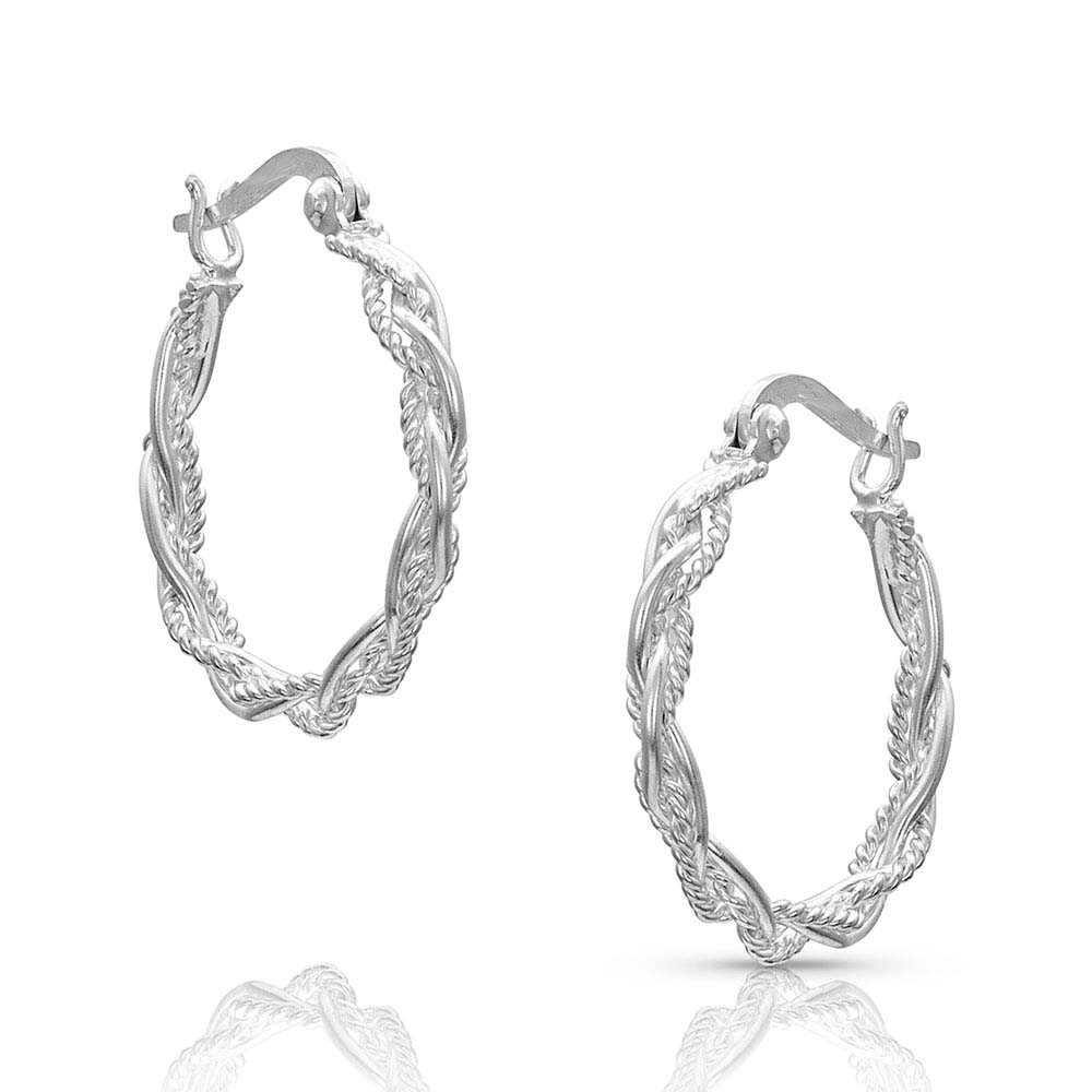 Braided Rope Hoop Earrings