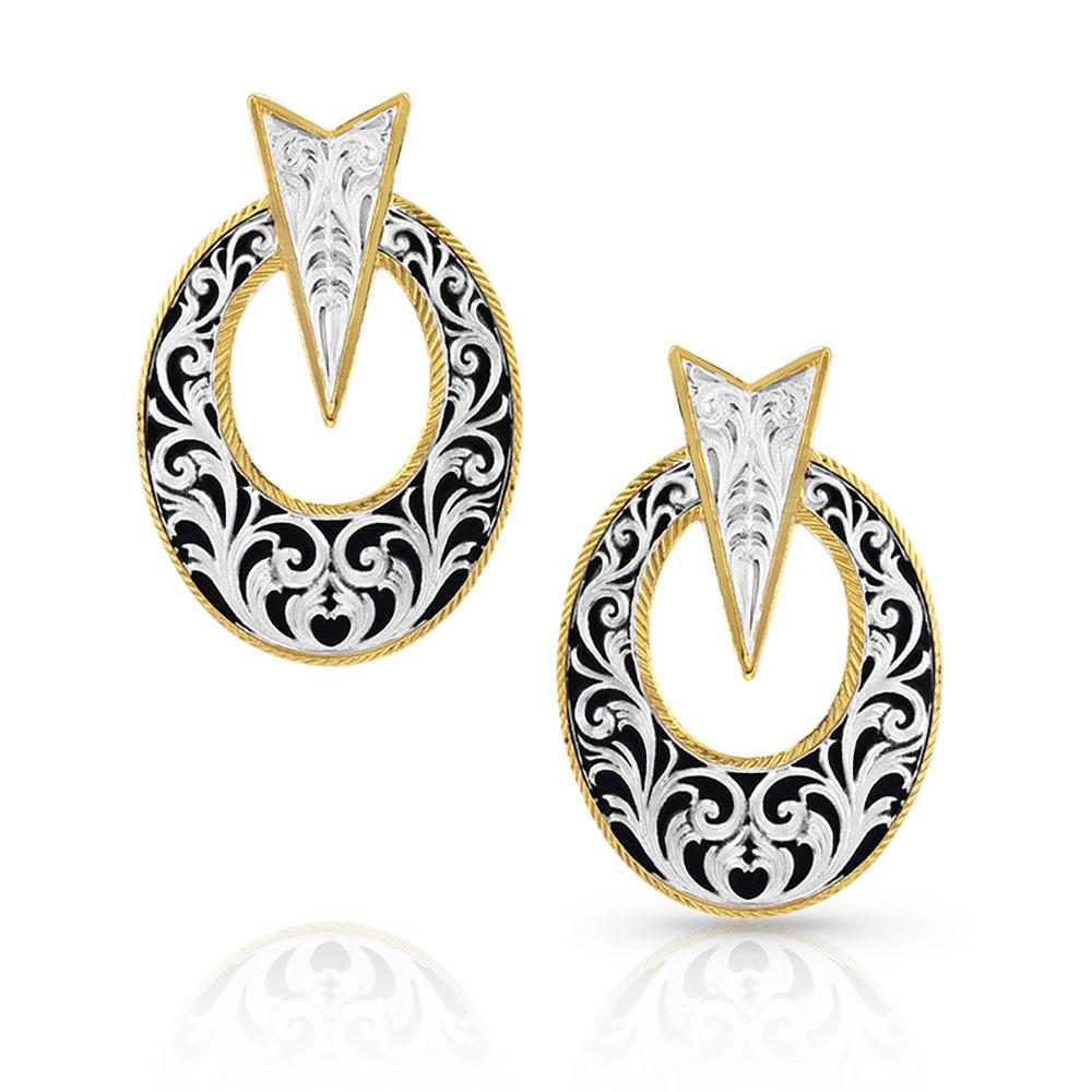 Striking Oval Earrings