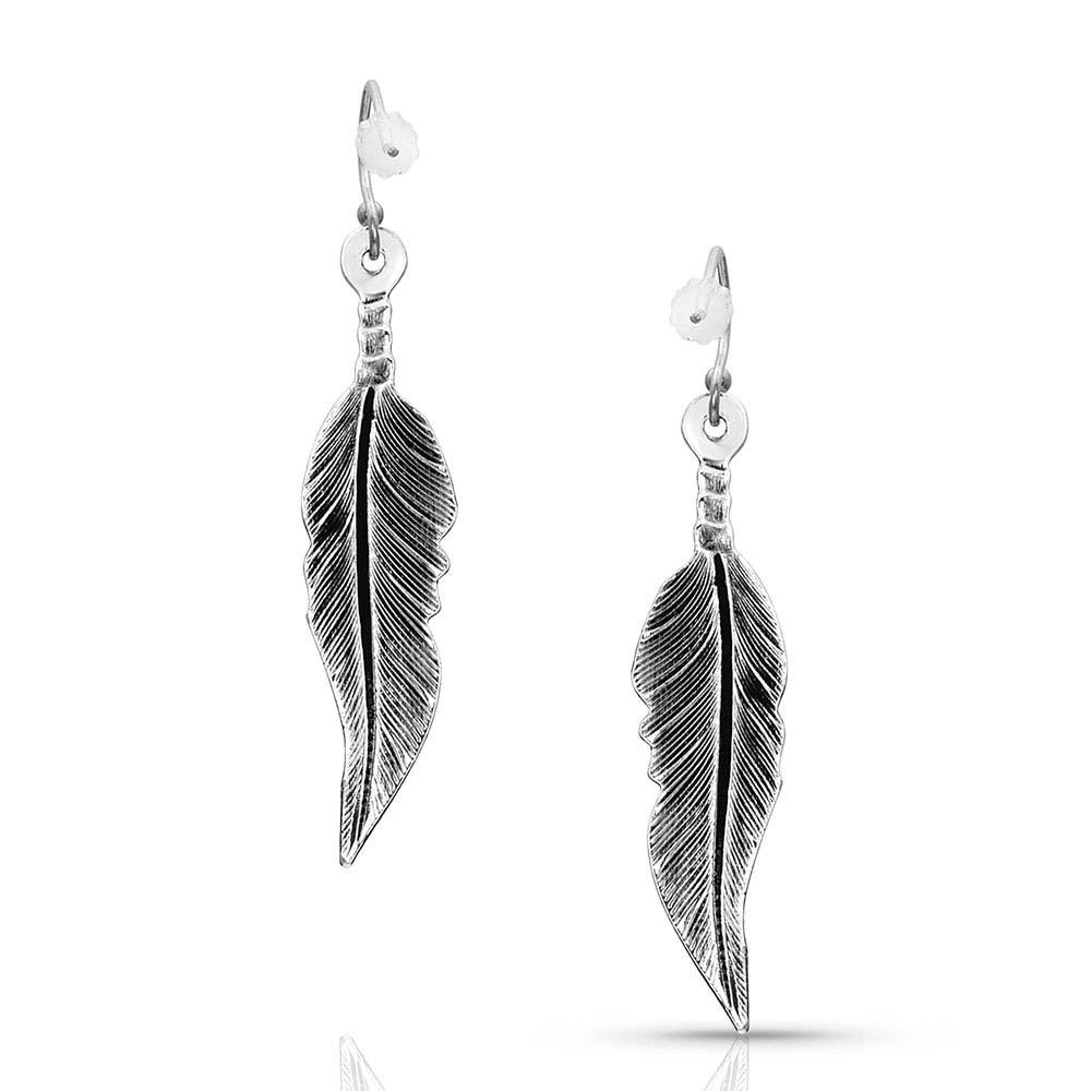 Little But Fierce Feather Earrings