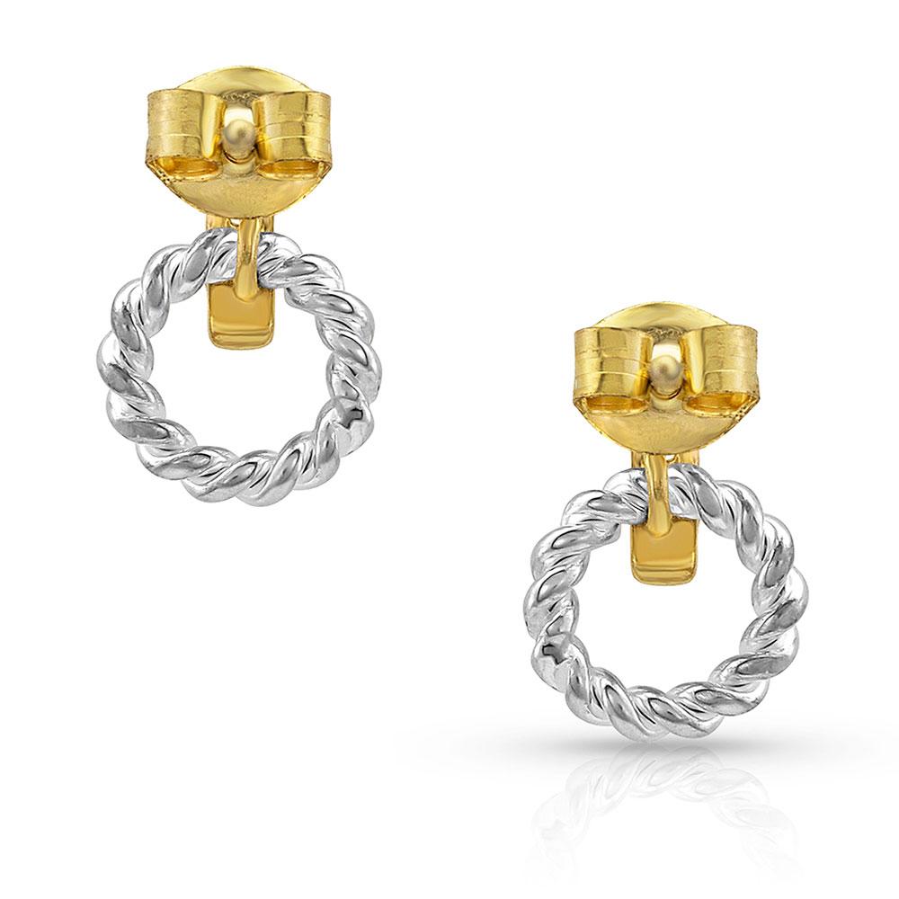 Two Tone Ring Earrings