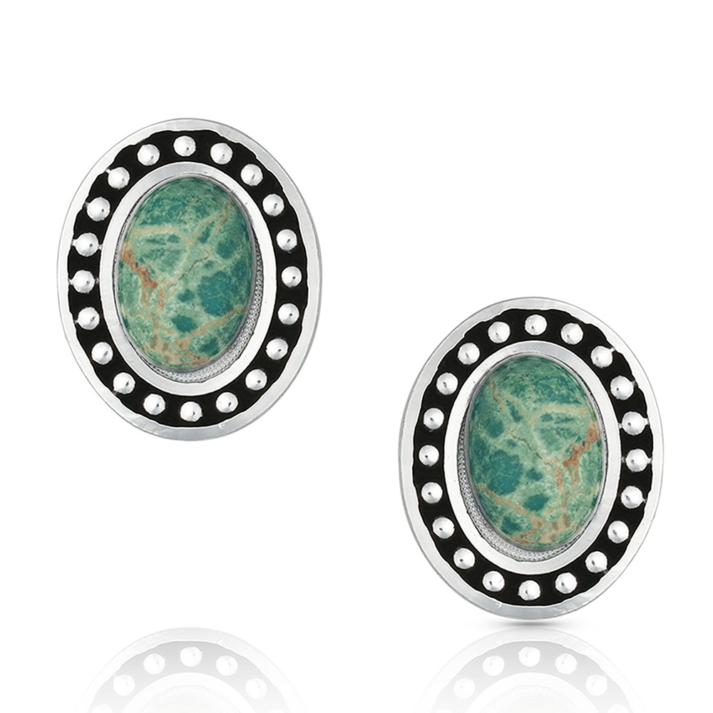 Turquoise Cameo Earrings