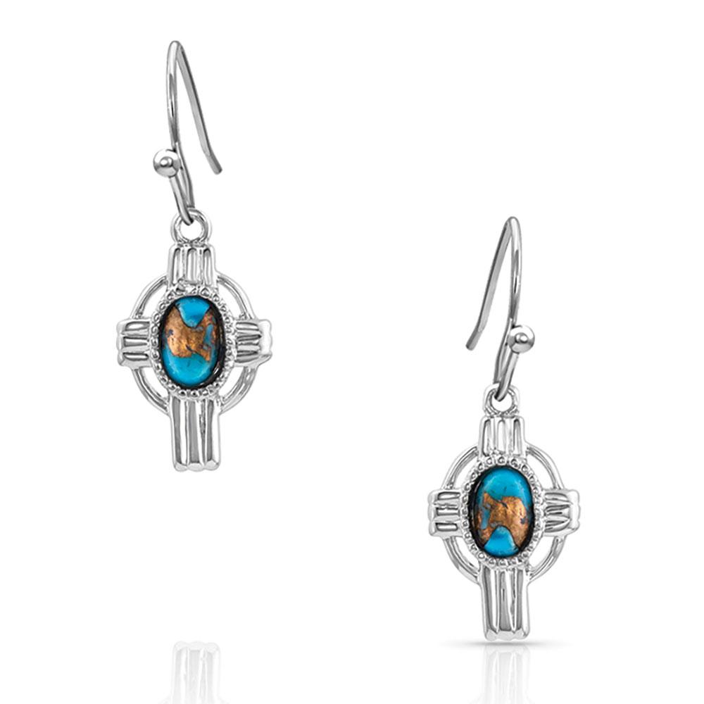 Easter Cross Turquoise Earrings