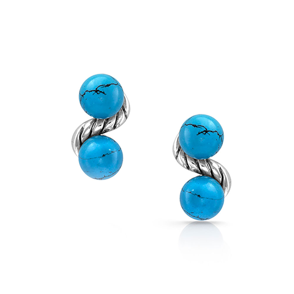 Dot Bar Dot Turquoise Earrings