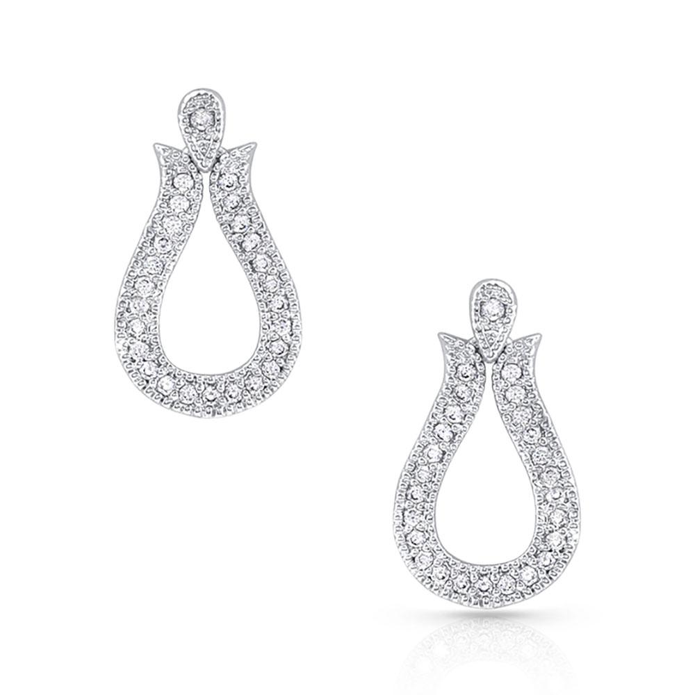 Glittering Yoke Earrings