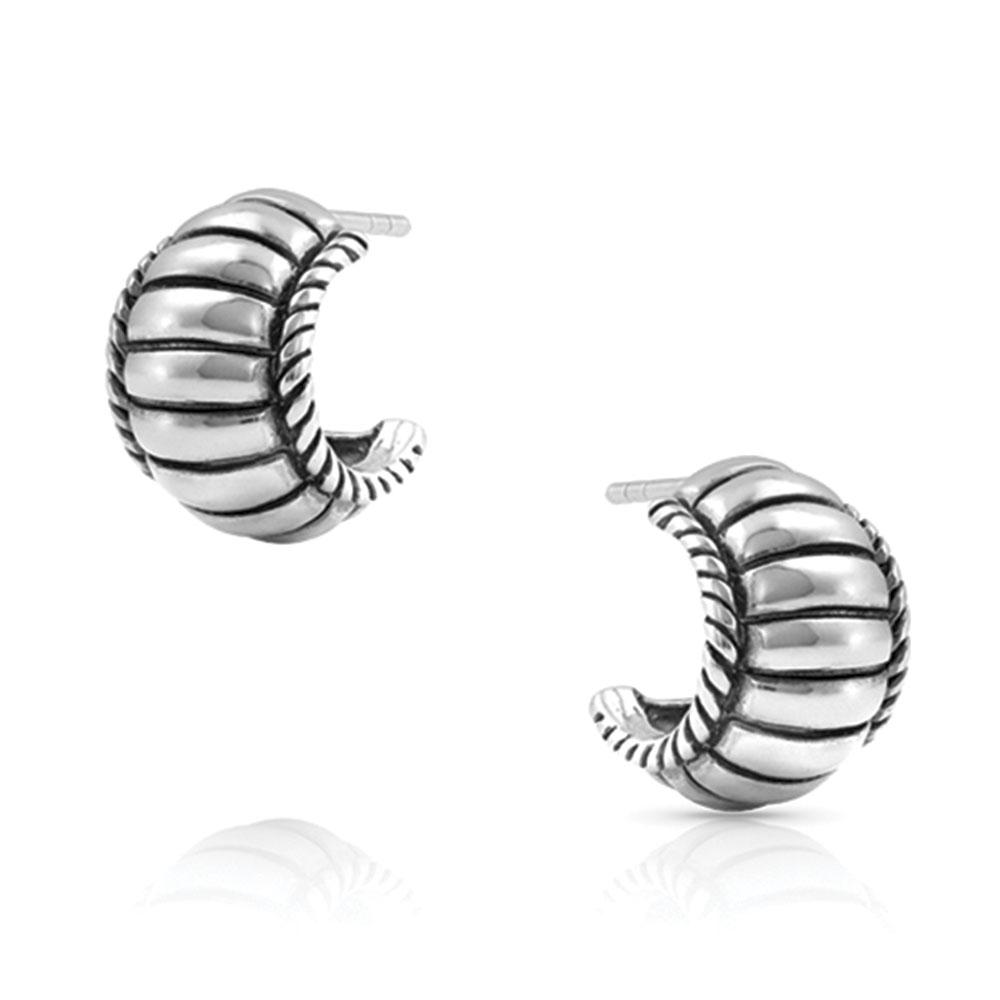Cable Elegance Huggie Earrings
