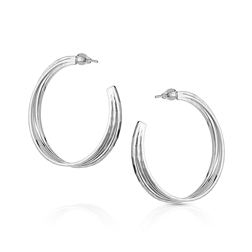 Cut Trio Hoop Earrings
