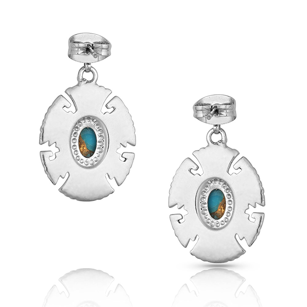 Geometric Turquoise Drop Earrings