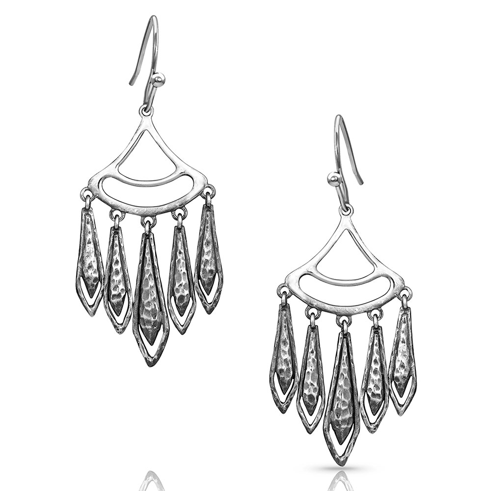 Hammered Chandelier Earrings