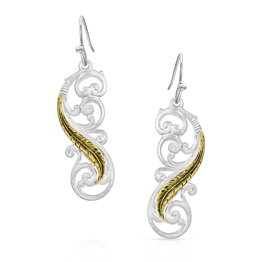 Sunfire Filigree Dangling Earrings