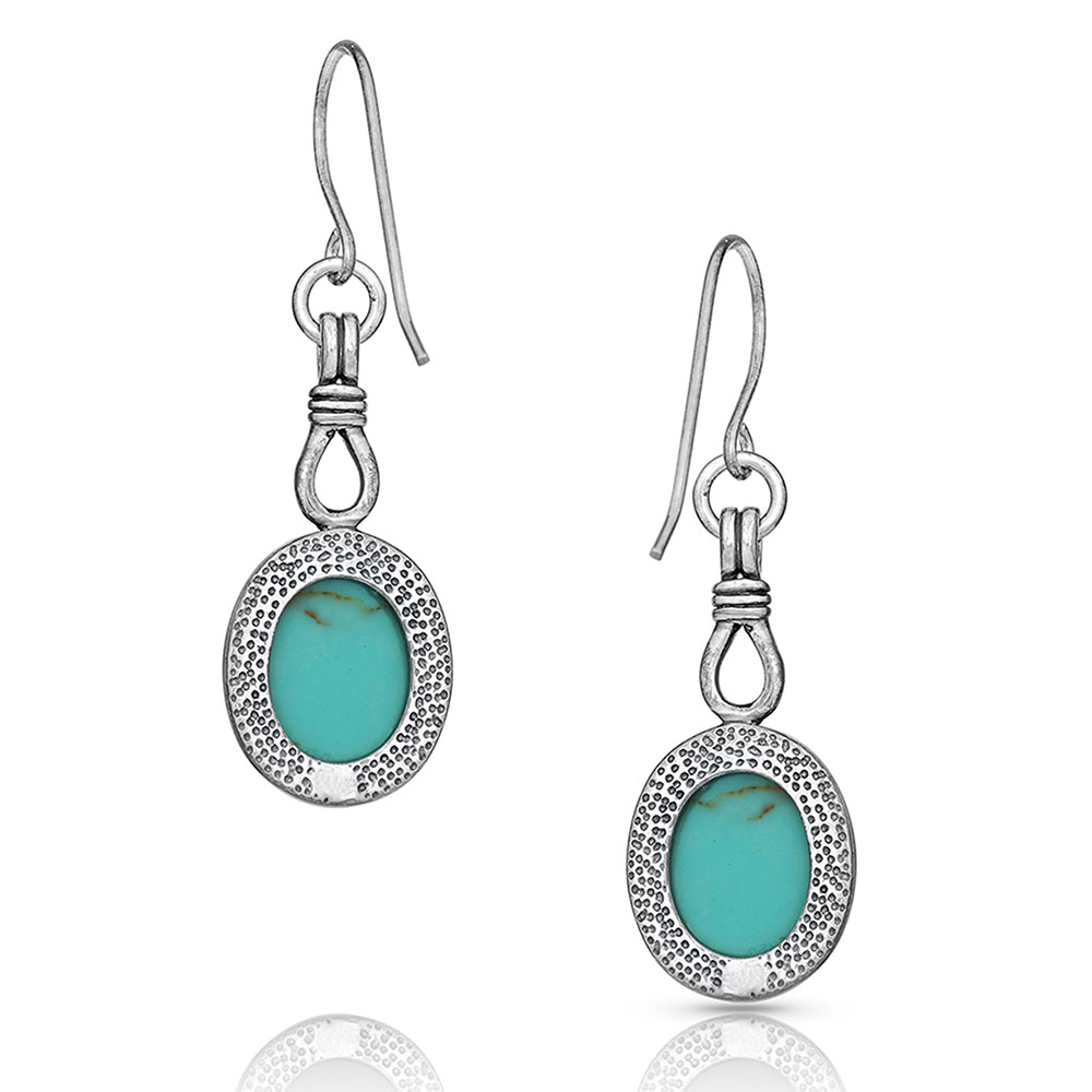 Caught In Turquoise Earrings