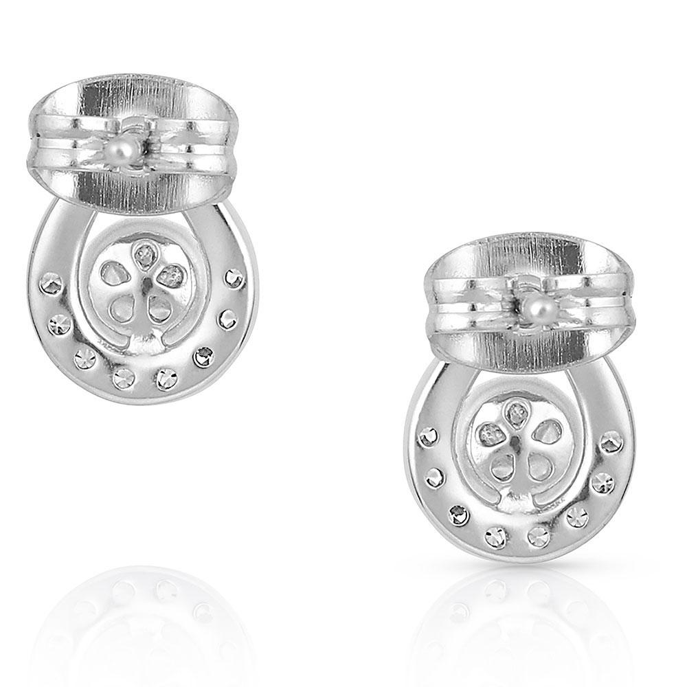 Cradled Sparkle Stud Earrings