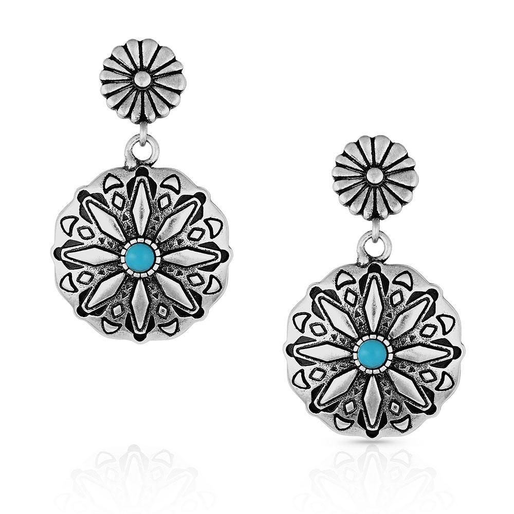 Starbrite Turquoise Coin Earrings