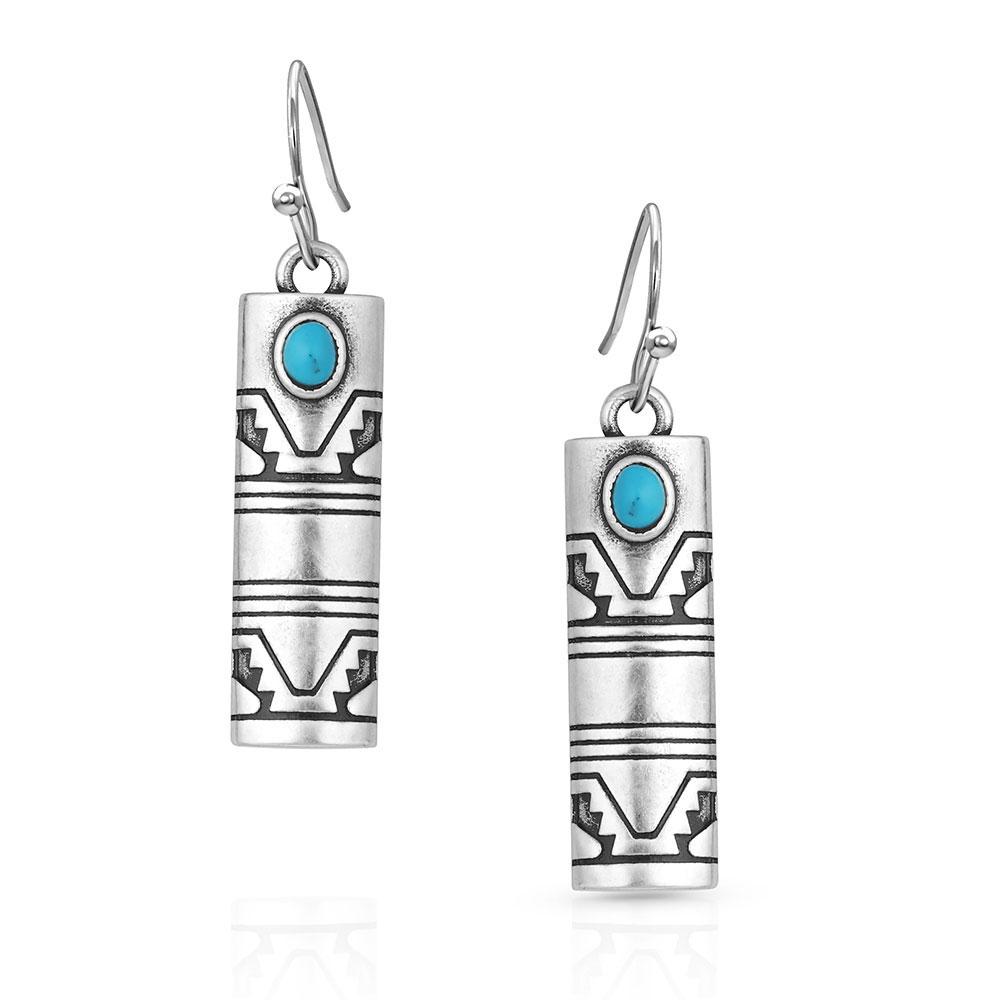 Western Stonehenge Buffed Opal Earrings