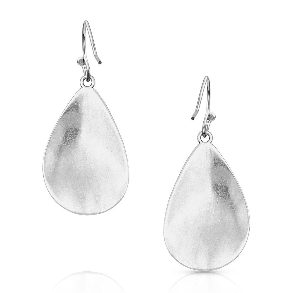 Blooming Cross Opal Teardrop Earrings