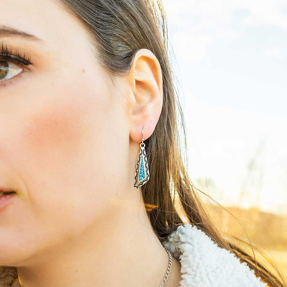 Salem Dusk Geometric Opal Earrings