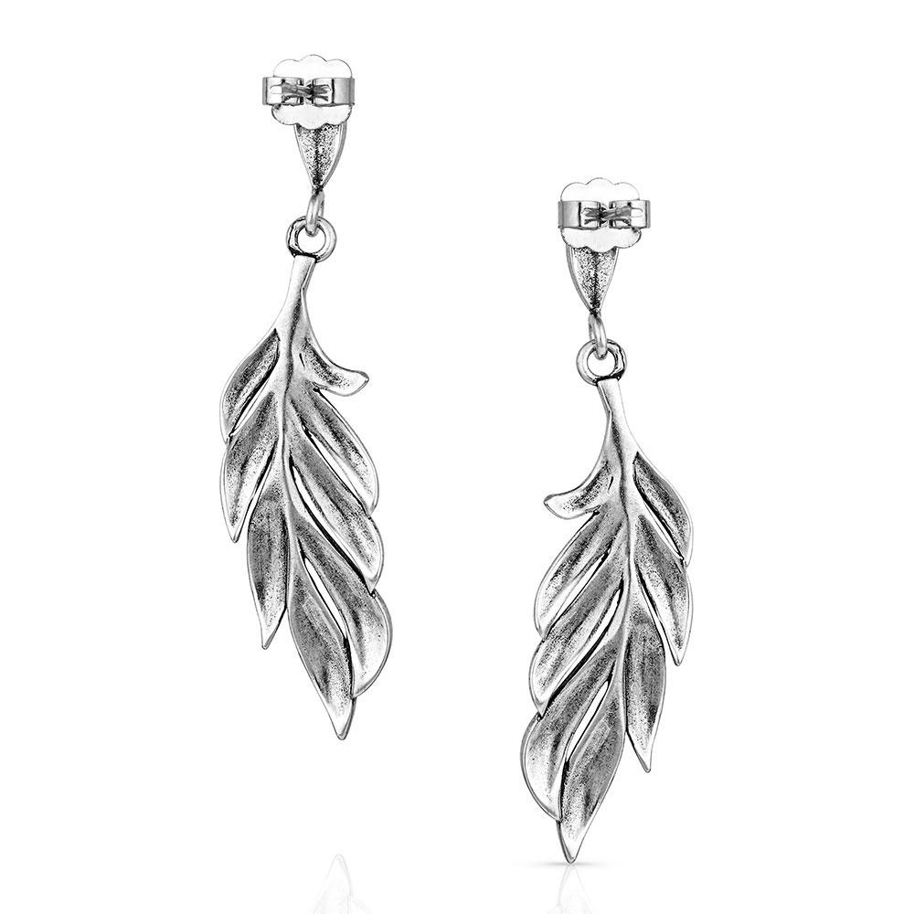 Frayed Singleton Feather Earrings