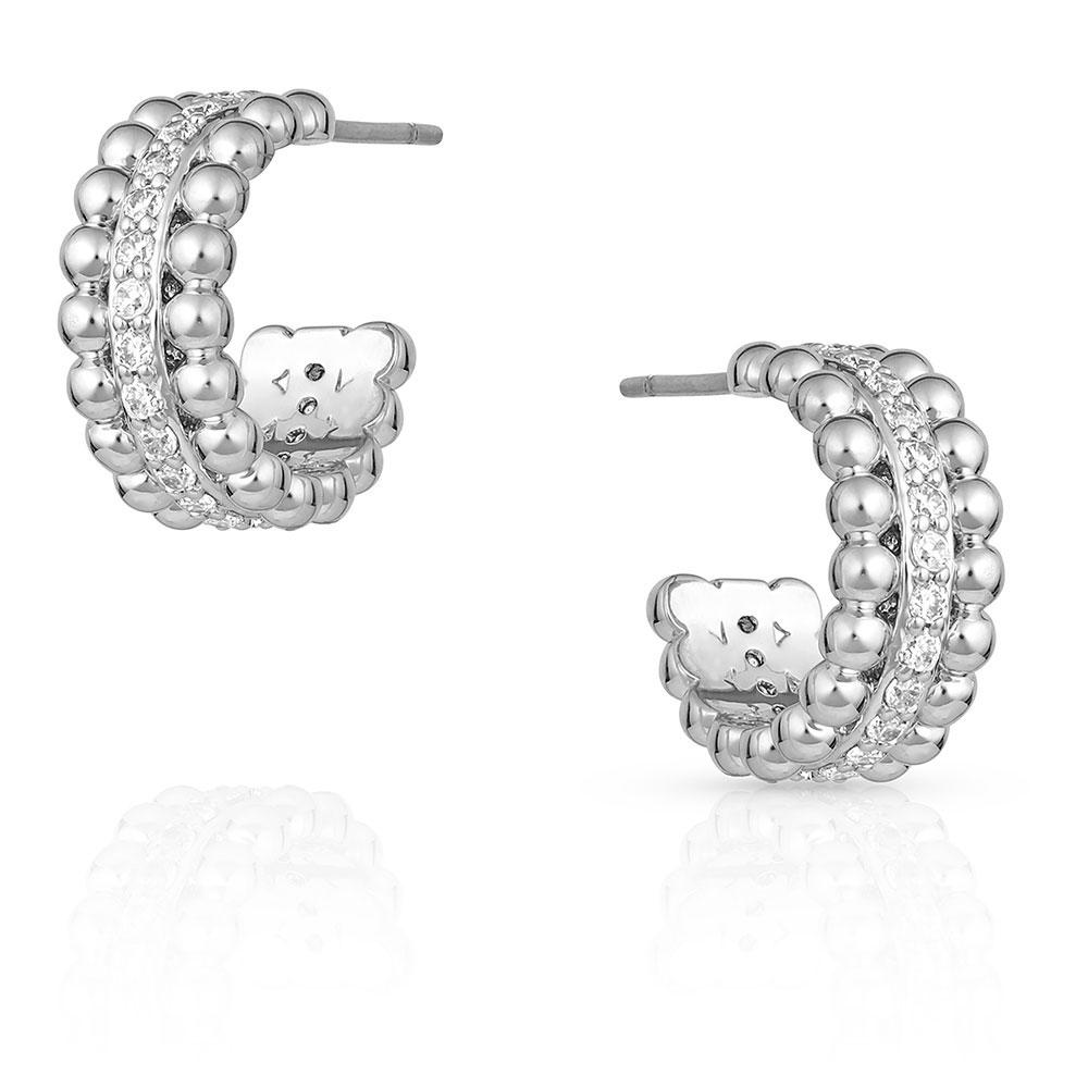 Ropes and Pearls Circular Earrings