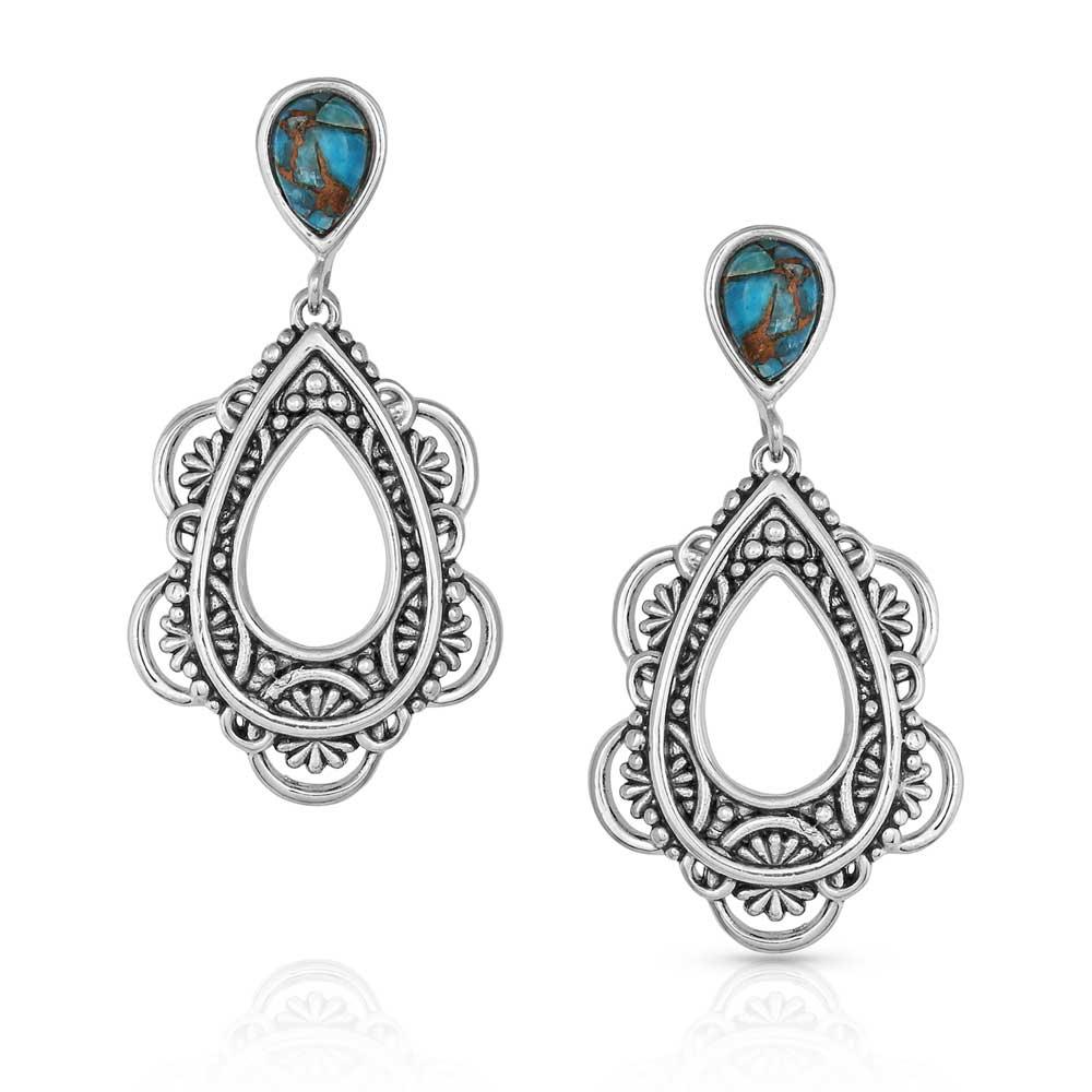 Lady Guadalupe Dangle Stone Earrings