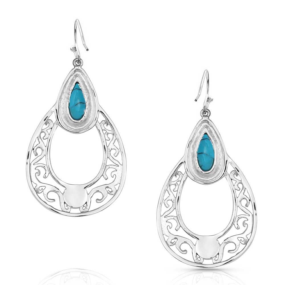 New World Stone Teardrop Earrings