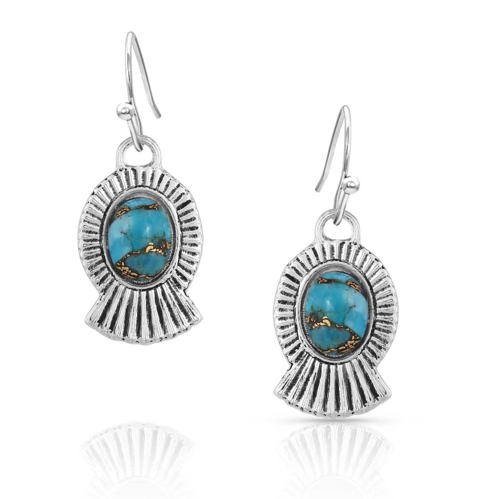 Romancing the Stone Turquoise Squash Blossom Earrings