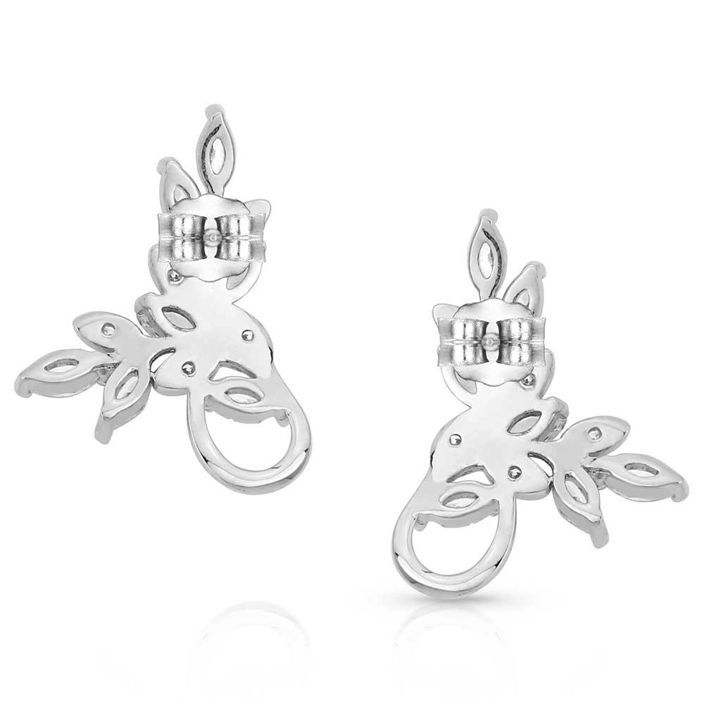 Frozen in Time Leaf Earrings