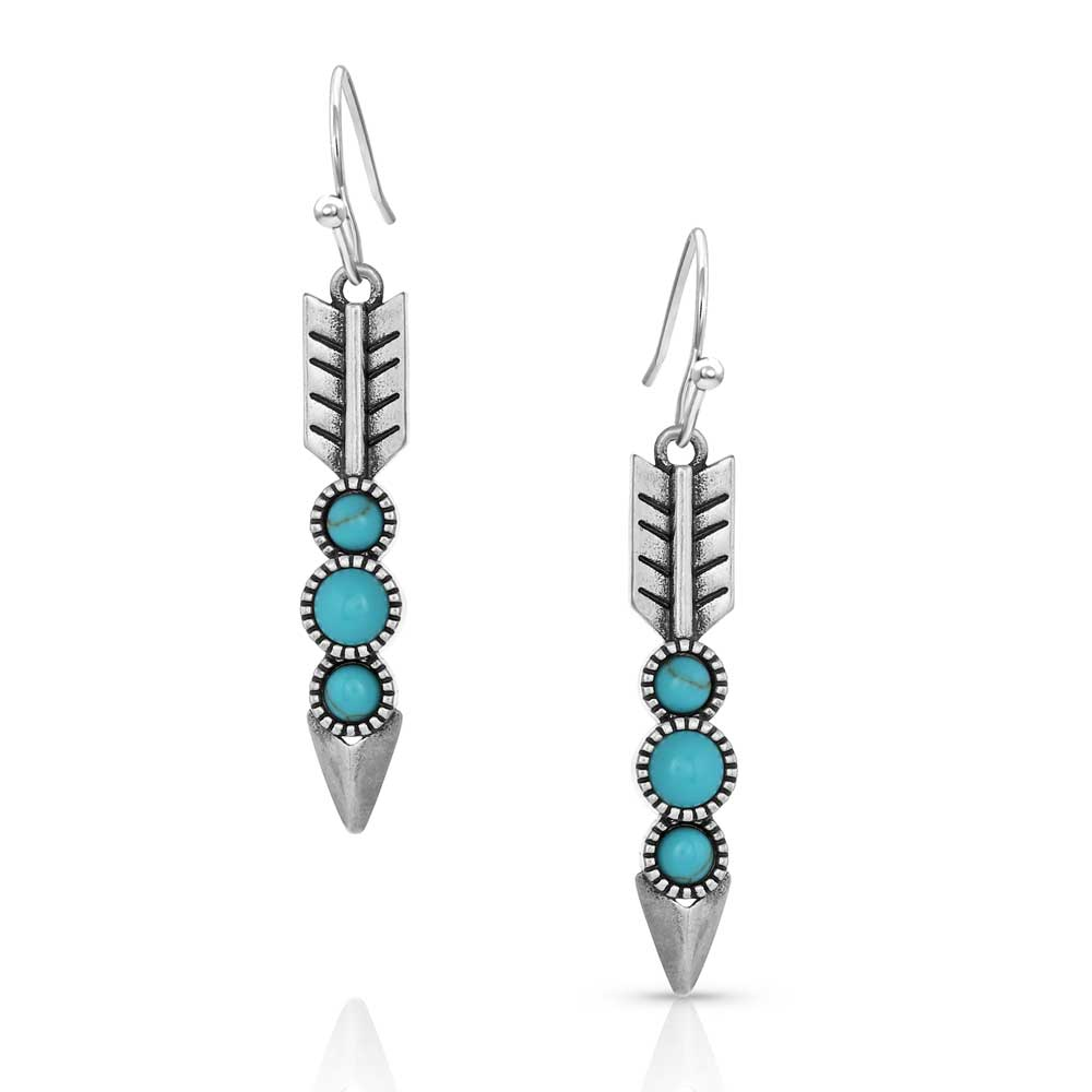 Free Falling Silver Arrow Earrings