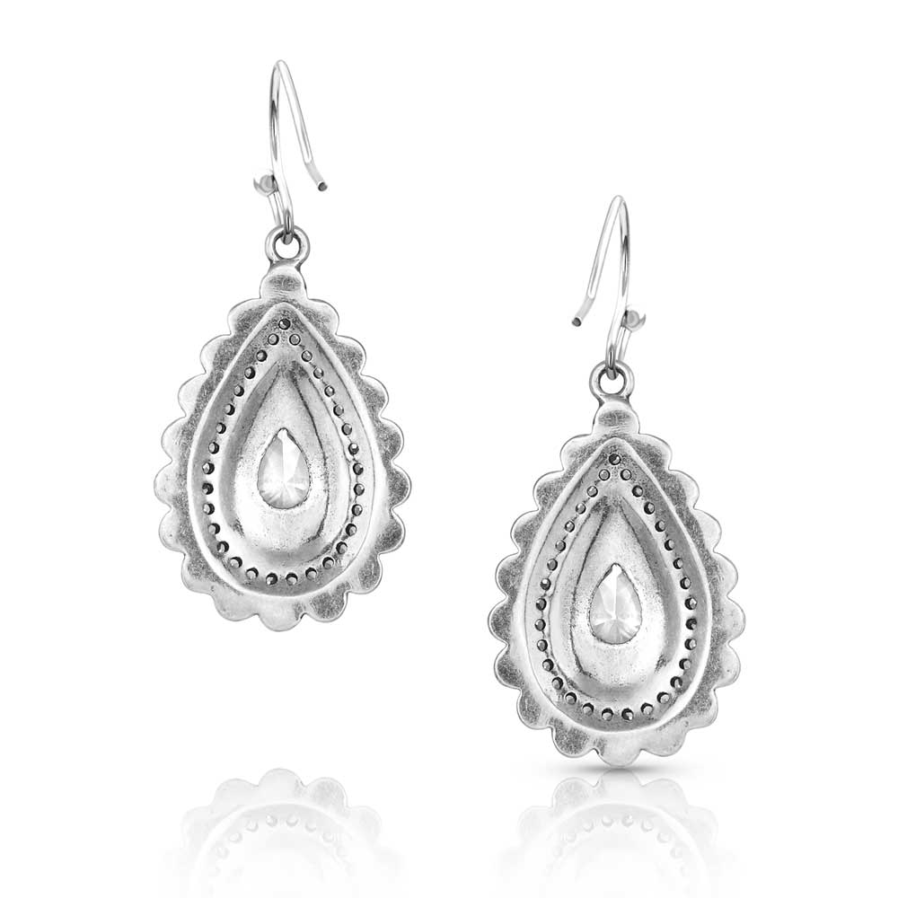 Purely & Primal Teardrop Silver Earrings