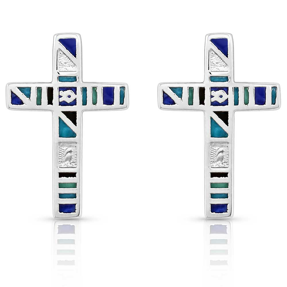 American Legends Color Cross Earrings