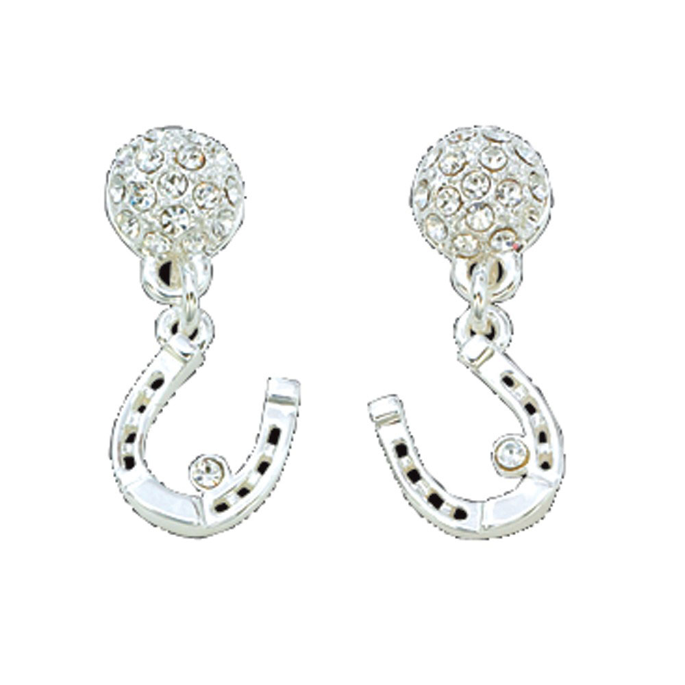 Horseshoe Dangle Crystal Earrings