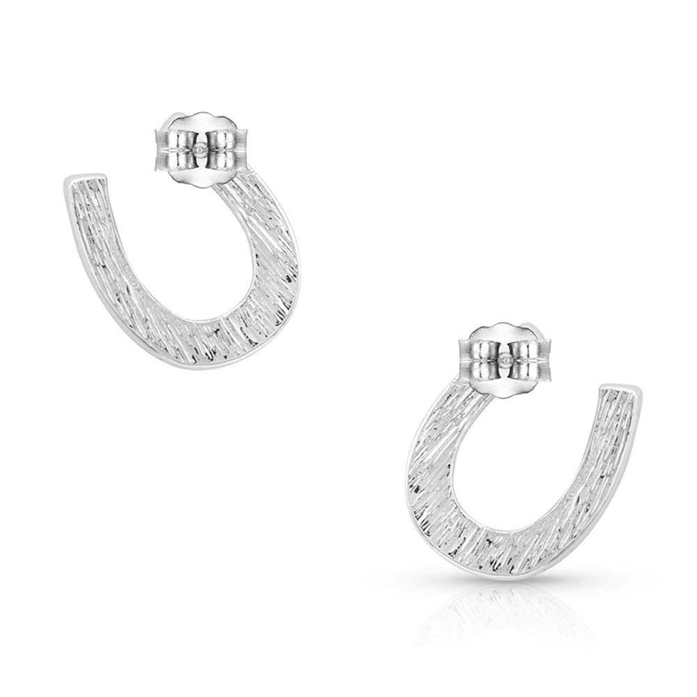 Small Silver Horseshoe Earrings