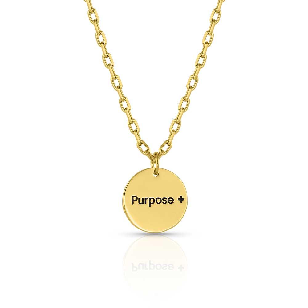 Purpose More Faith Pendant Necklace