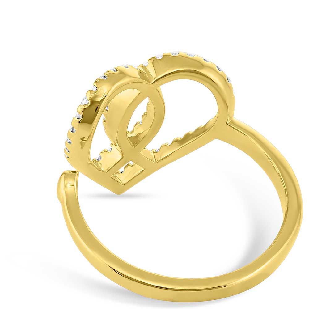 Connected Faith Heart Ring