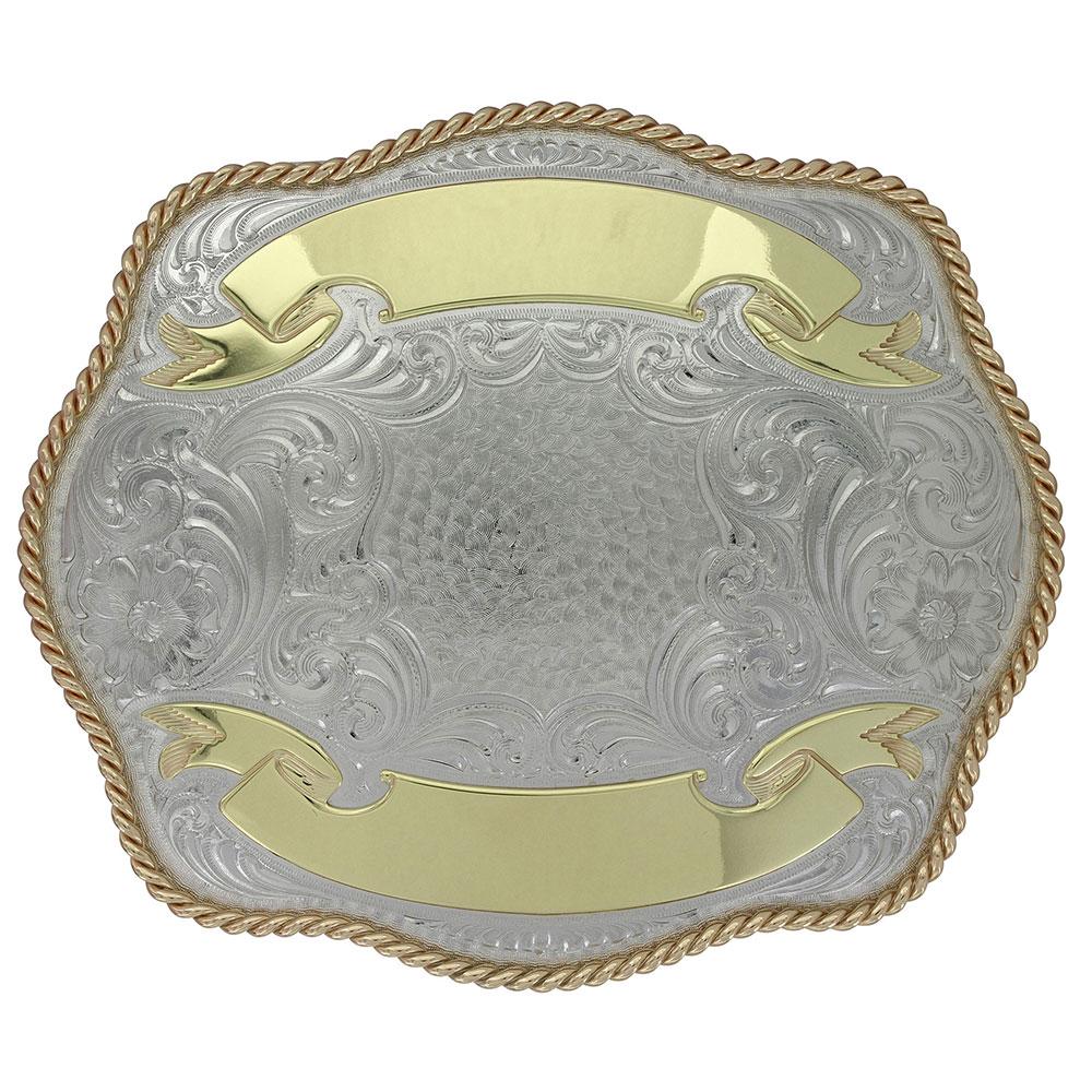 Malta German Silver Trophy Buckle (4.625