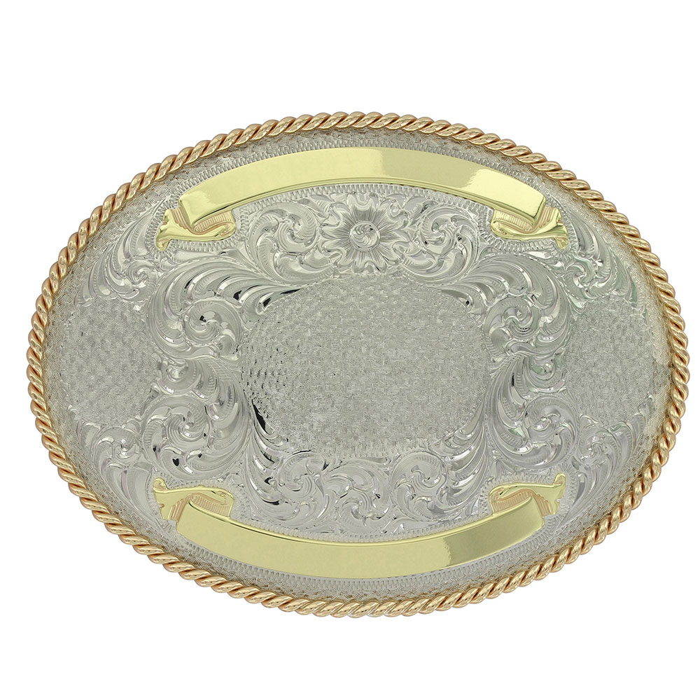 Virginia City German Silver Trophy Buckle (4.125