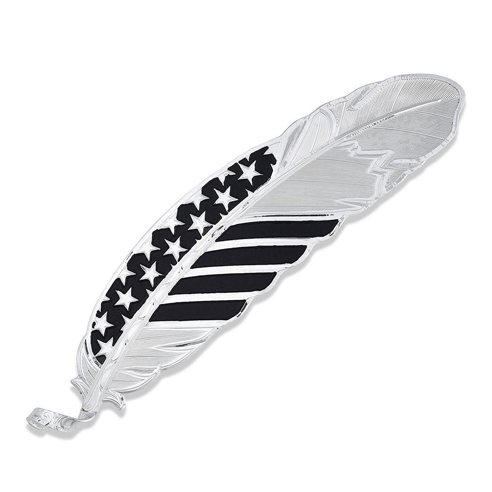 A Black Tie Affair Flag Hat Feather