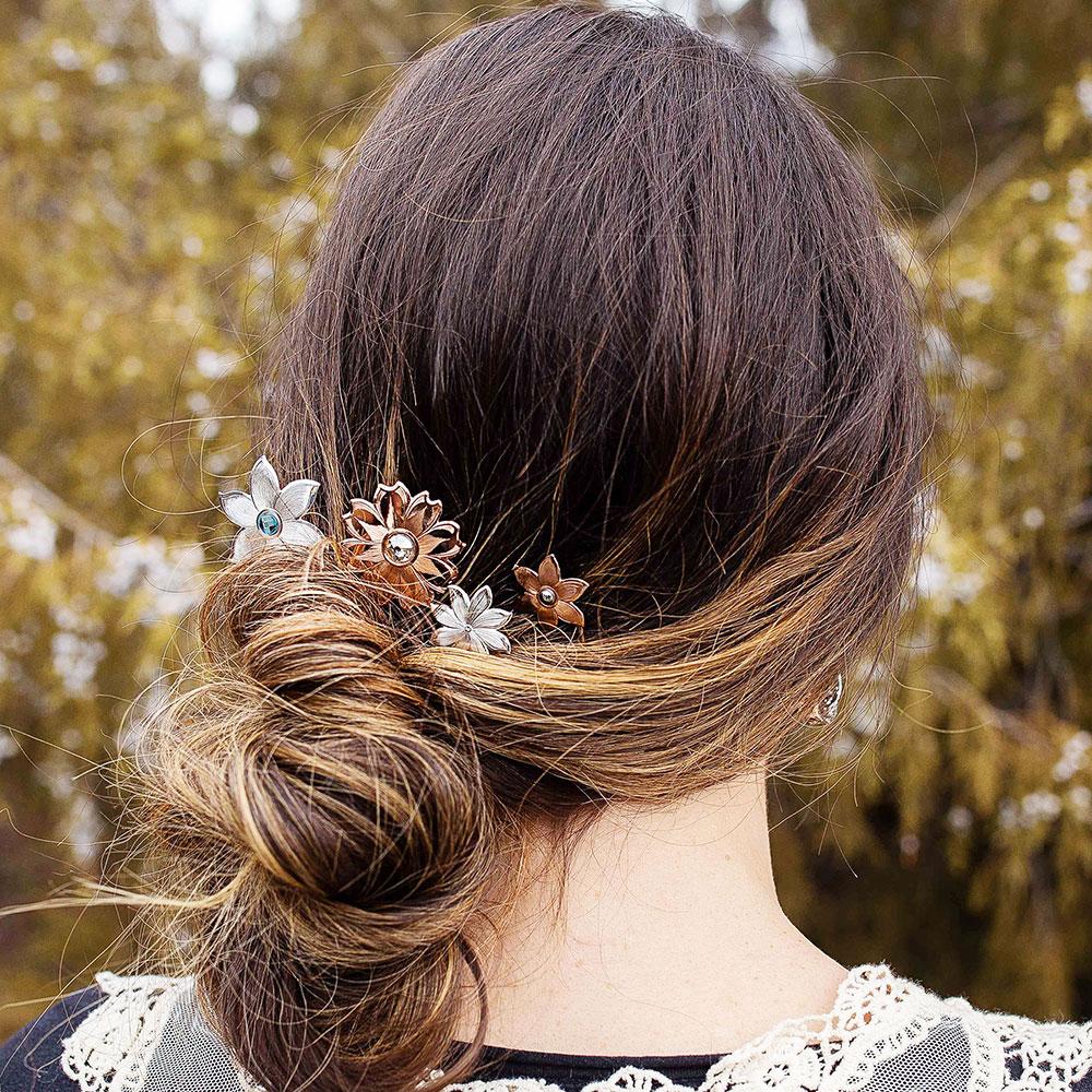 Wild Flower Spark Hair Pin Set