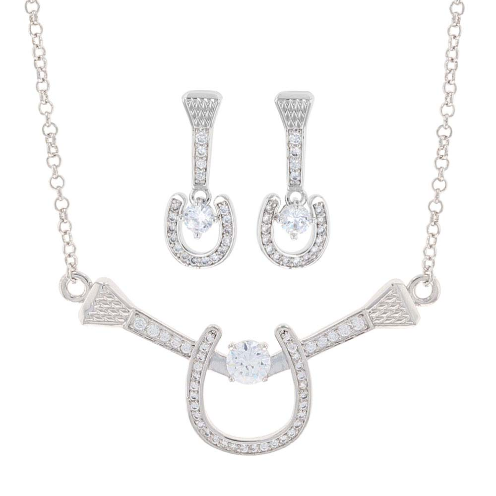 Bar Drop Horseshoe Nail Jewelry Set