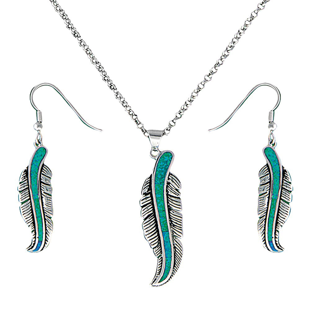 The Storyteller Feather Jewelry Set