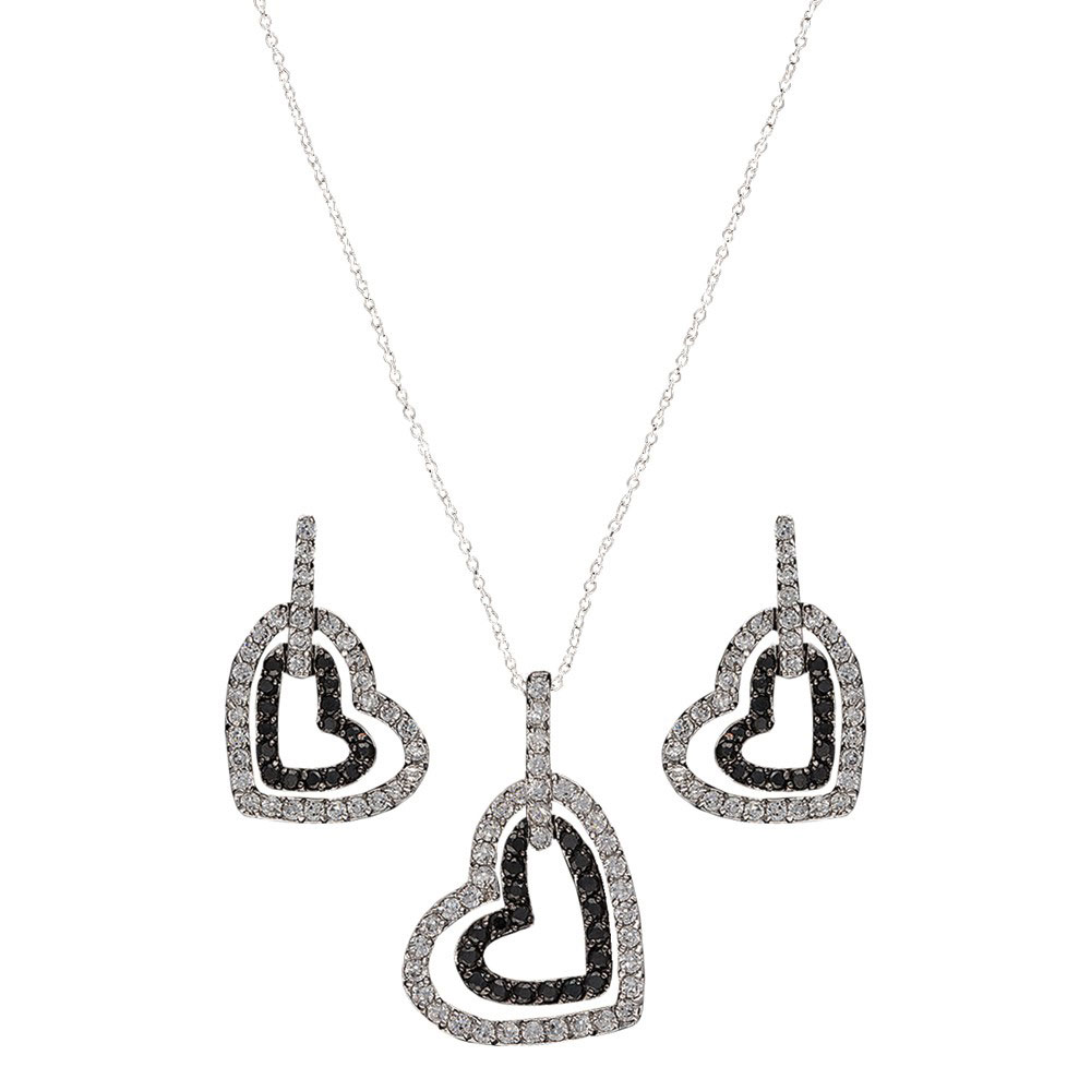 Hearts Deep Reflection Jewelry Set