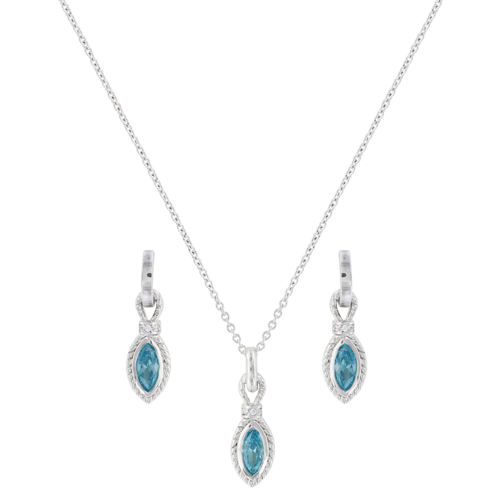 Lassoed Blue Starlight Jewelry Set