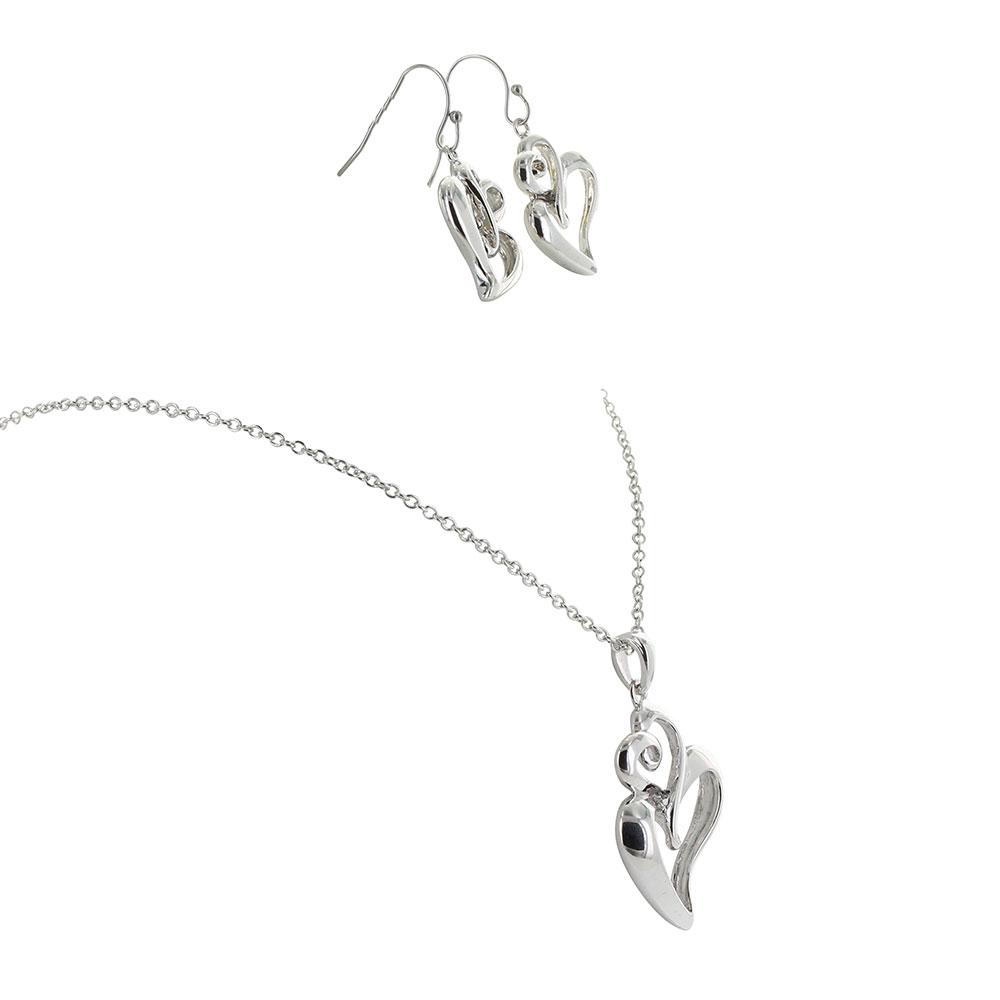 Infinite Love Heart Jewelry Set