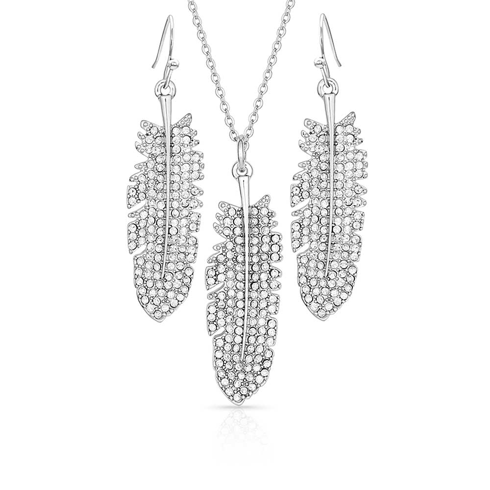 Shimmering Feather Jewelry Set