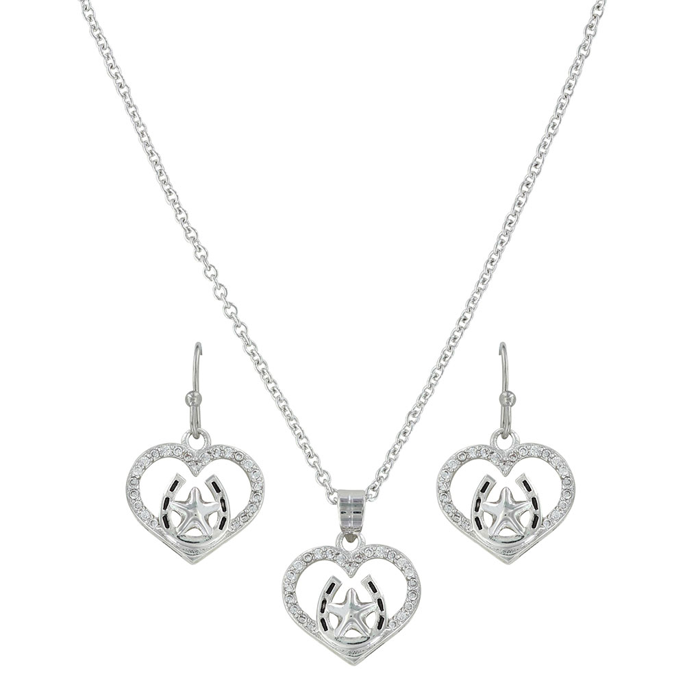 Star of My Heart Horseshoe Jewelry Set