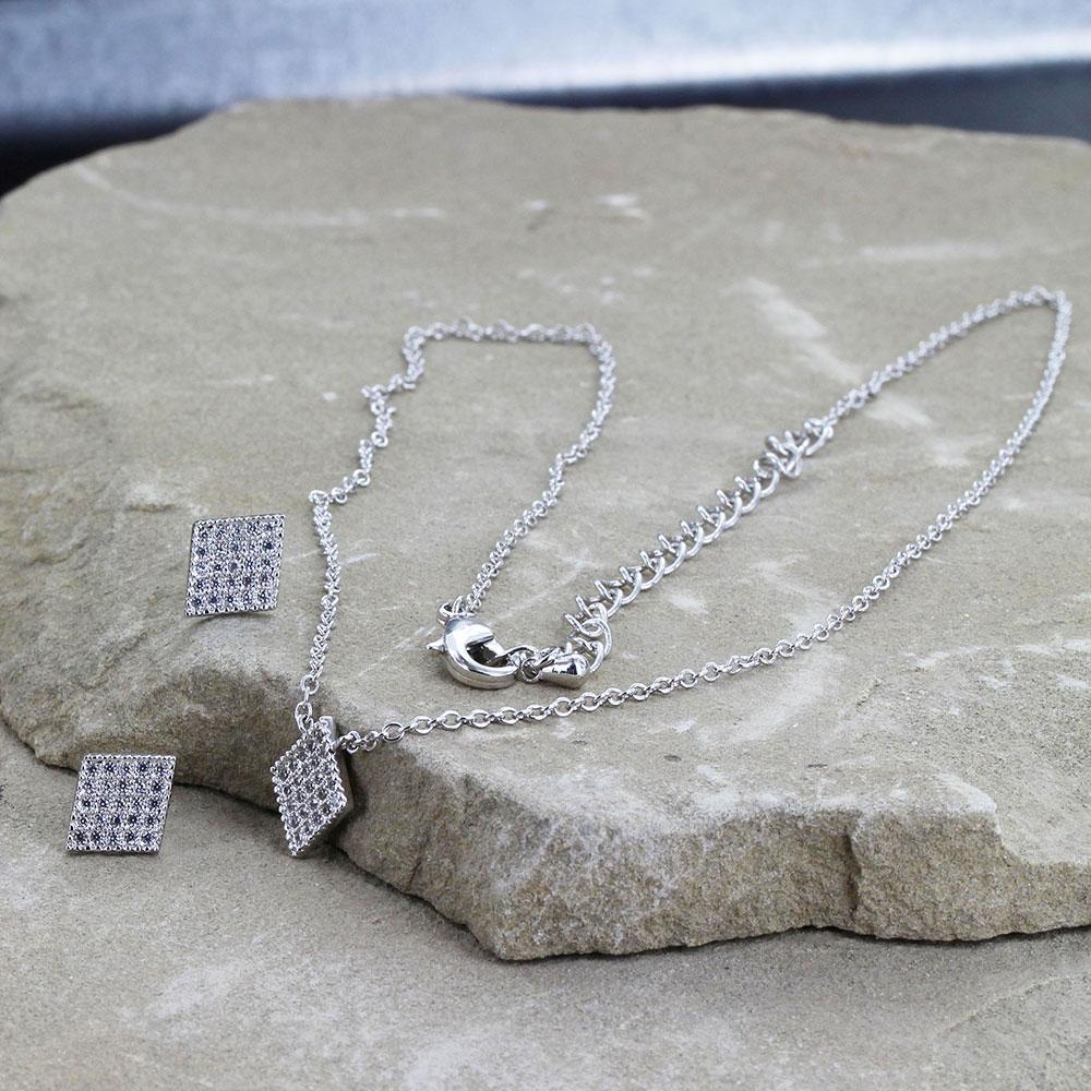 Tiny Iced Jewelry Set