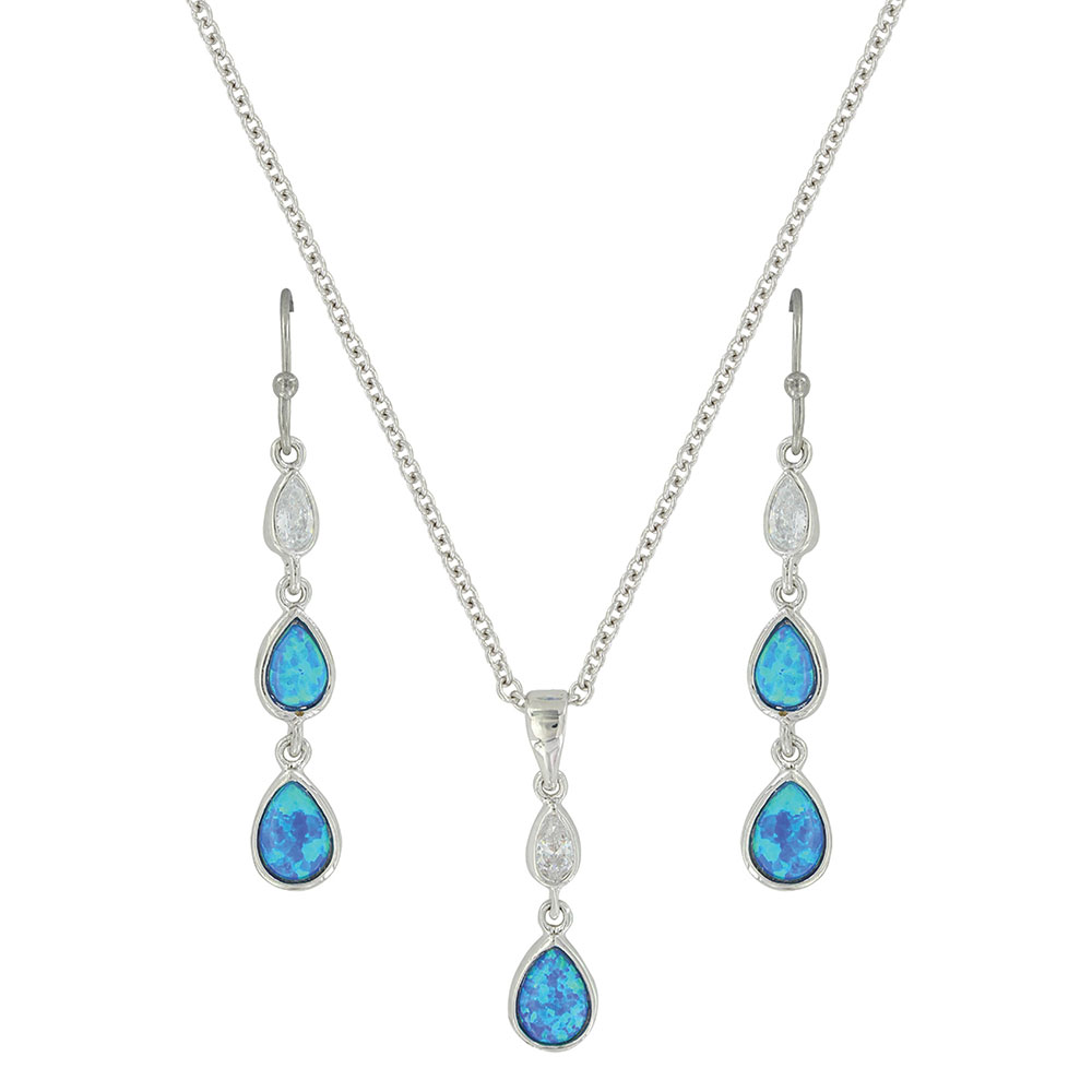 River of Lights Falling into Water Jewelry Set