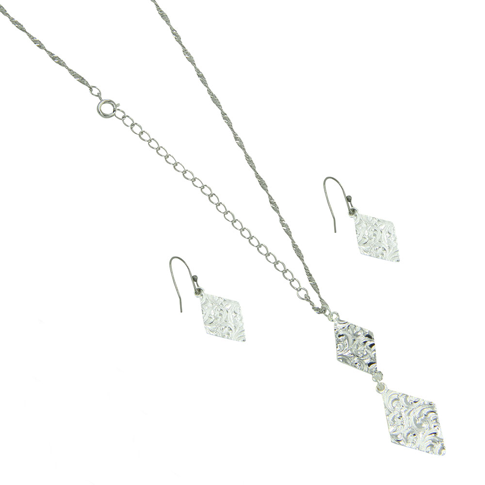 Summer Skies Double Diamond Jewelry Set