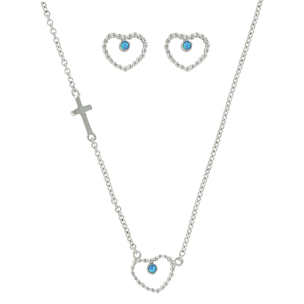 Beads of My Heart Opal Jewelry Set